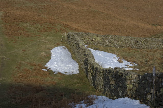 Dry stone wall on High Rigg
