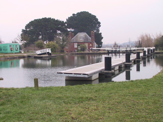 The lock at The Double Locks