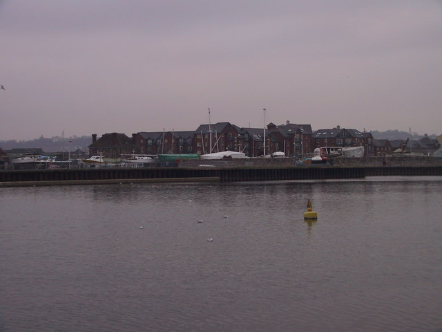 Looking across the River Exe towards the Canal & Canal Basin