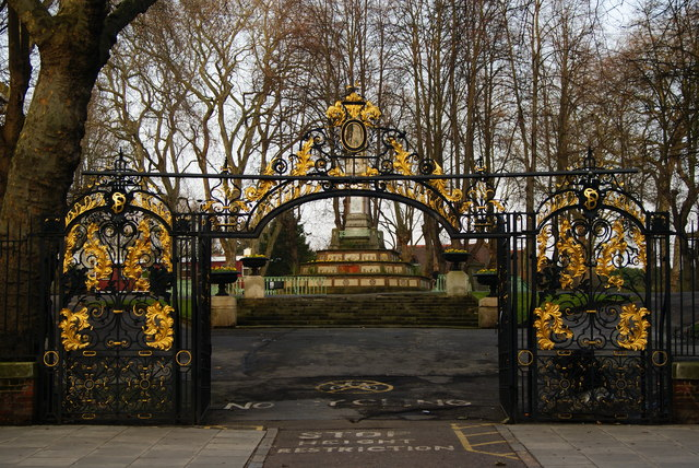 Gates to the Churchyard of St.Pancras Old Church, London