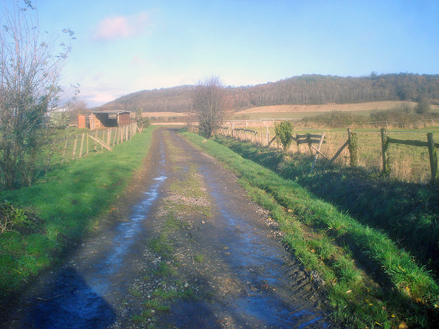 Bridleway north of Alderton