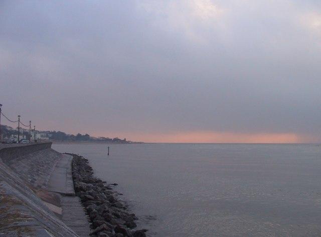 Sea wall, Exmouth