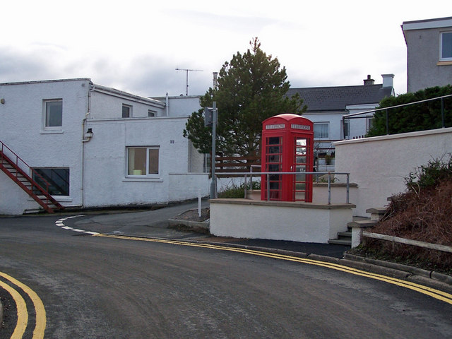 Carefully located phone box, Kyleakin