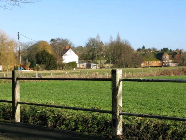 View of Mersham from Flood Road