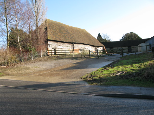 Barn and outbuildings at Court Lodge Farm