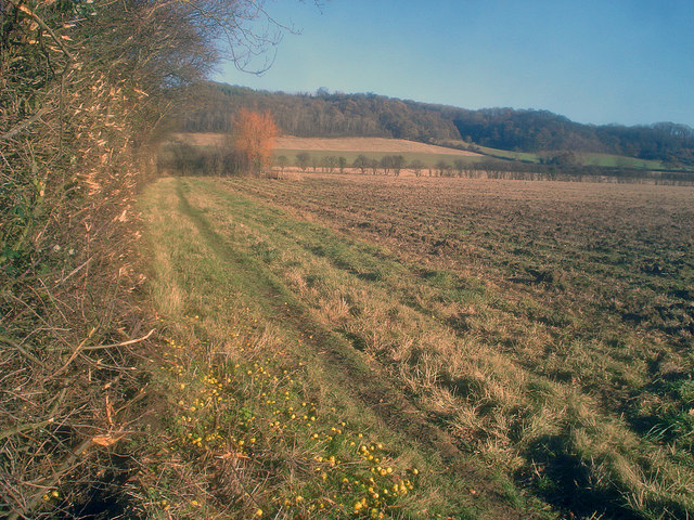Public footpath to Washbourne Hill