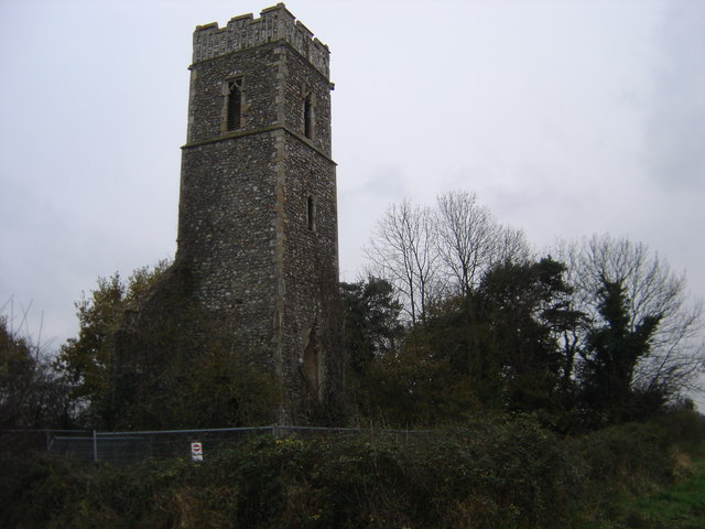 The remains of All Saints Church, Panxsworth.