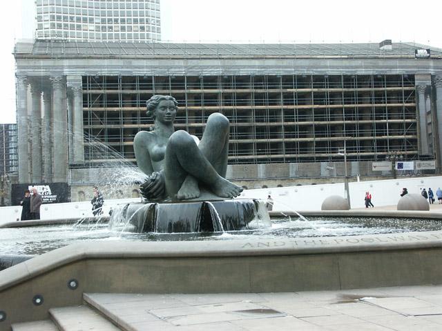 River Sculpture in Victoria Square