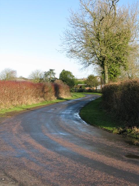 View along Jemmett Lane towards Jemmett Farm