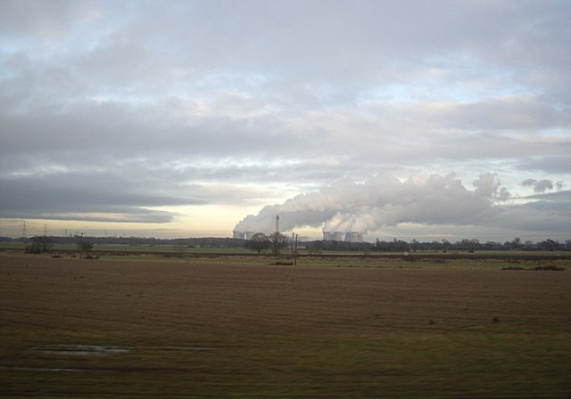 View towards Drax power station