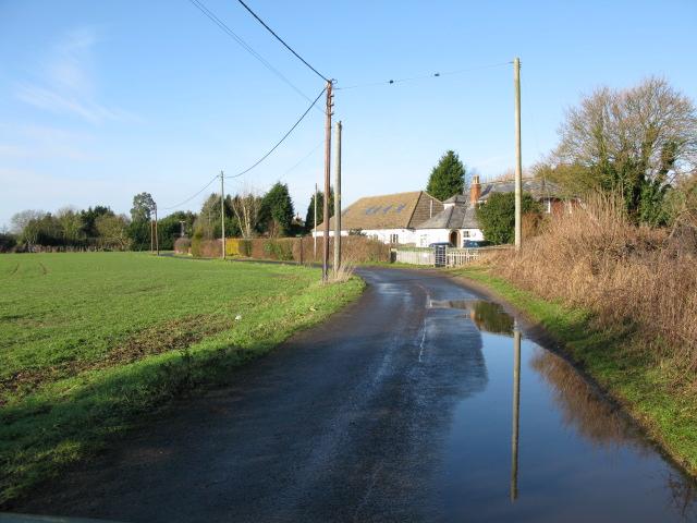 View along Blind Lane near Mersham