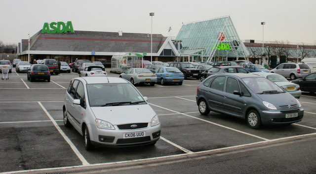 Asda 24-hour superstore and car park, Duffryn, Newport