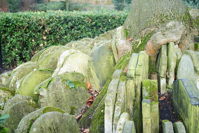 Gravestones by the Hardy Tree, St.Pancras, London (1)