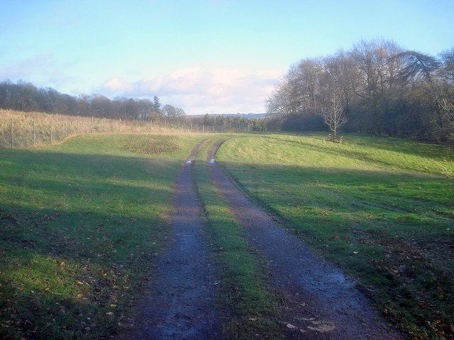 Track on Alderton Hill