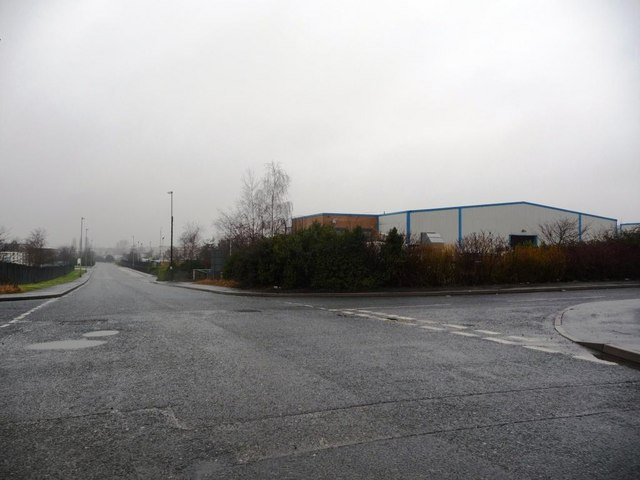 View west along a wet Foxbridge Way