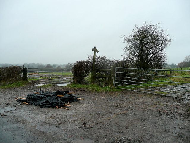 Footpath and fly-tip