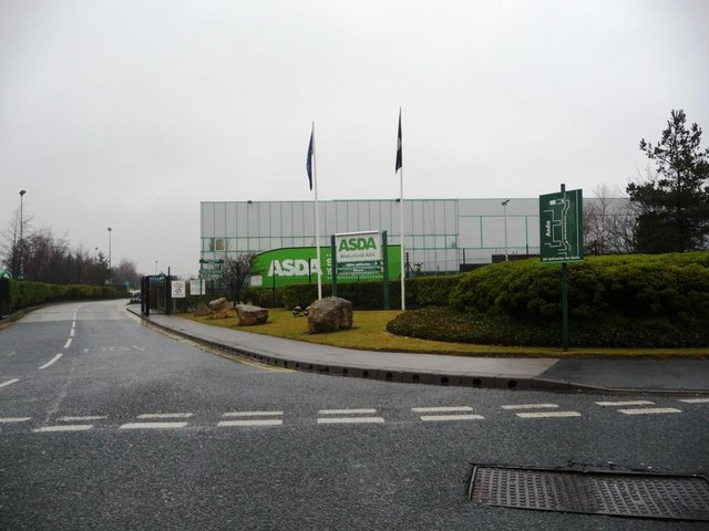 Entrance to Asda's premises, Foxbridge Way