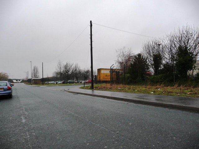 Foxbridge Way, looking towards the junction with the A655