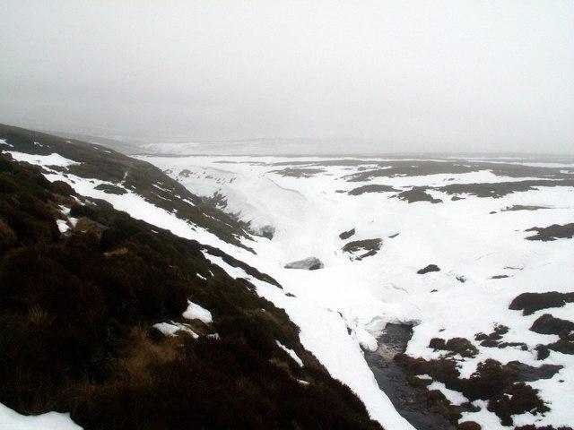 Snow covered Near Black Clough