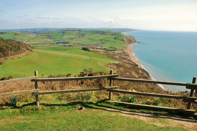 Golden Cap: highest point on the south coast of England