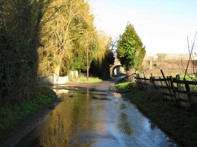View along Blind Lane
