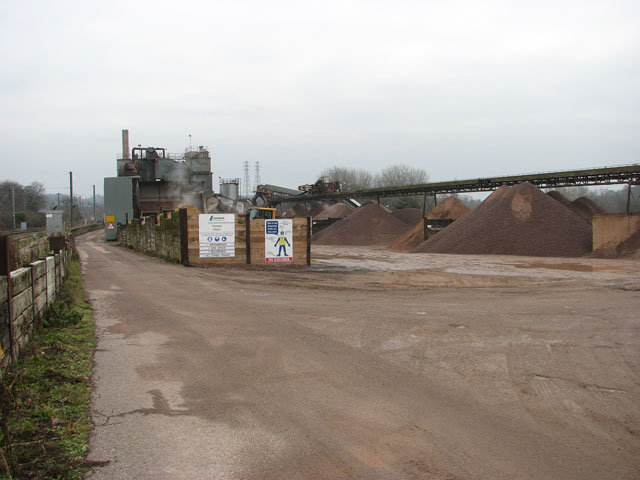 Lafarge Aggregates east of Trowse station