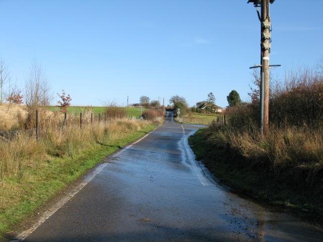 Looking NE along Blind Lane