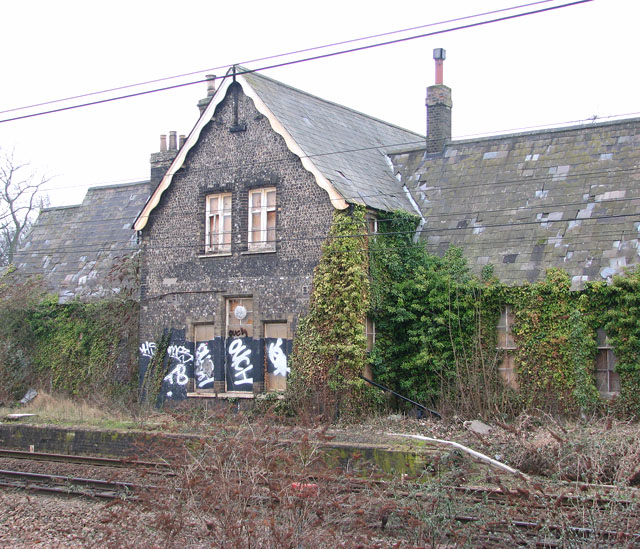 Trowse railway station - disused and overgrown