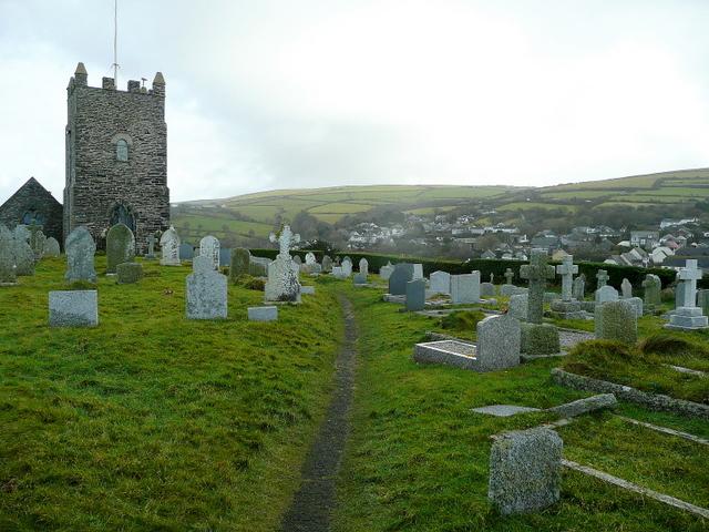 Hilltop churchyard of St. Symphorian's