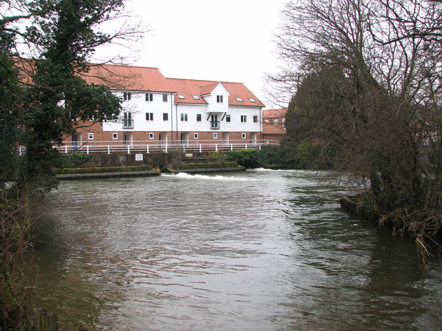 View across the mill pond