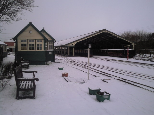 Winter at New Romney station