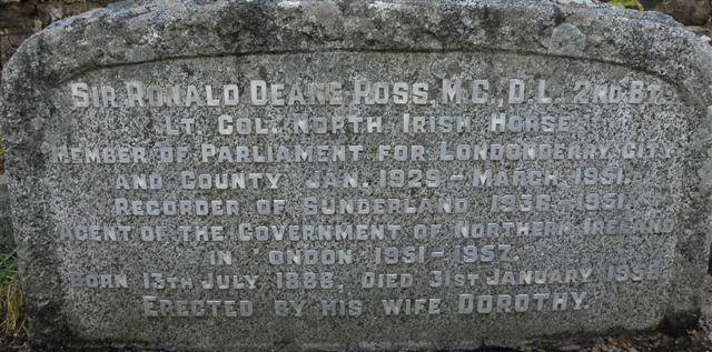 Inscription, Sir Ronald Deane Ross:: OS grid H6064 :: Geograph ...