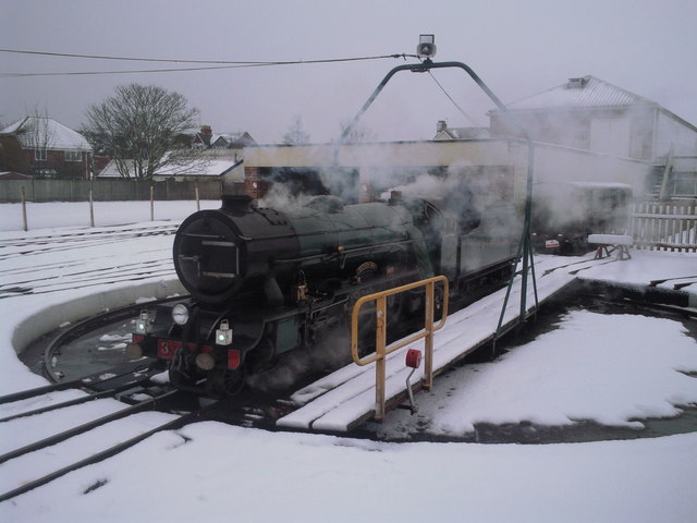 Southern Maid on the turntable at New Romney