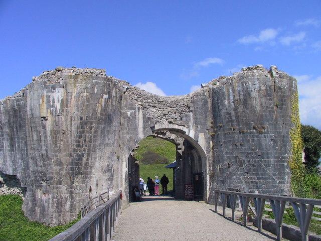 Entering Corfe Castle