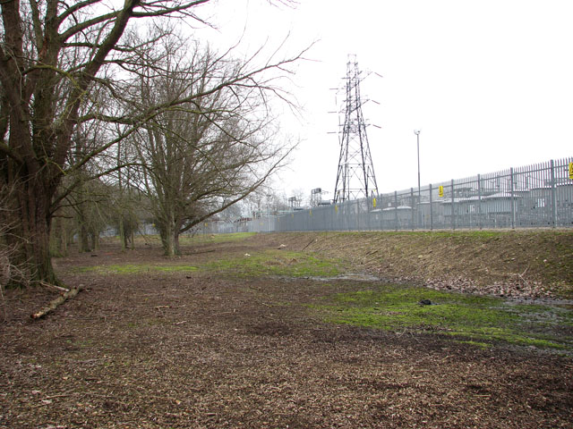 The northern perimeter of Trowse electricity sub-station