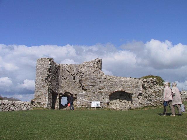 Inside Corfe Castle