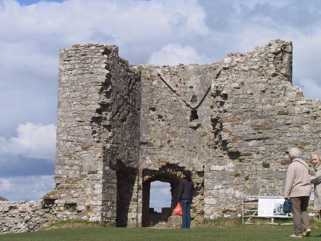 Ruin inside Corfe Castle