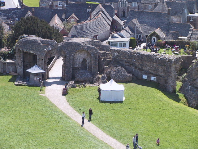 The entrance to Corfe Castle