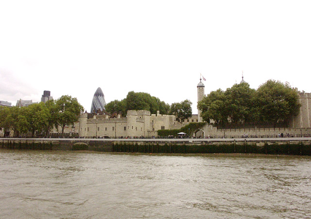Western end of the Tower of London