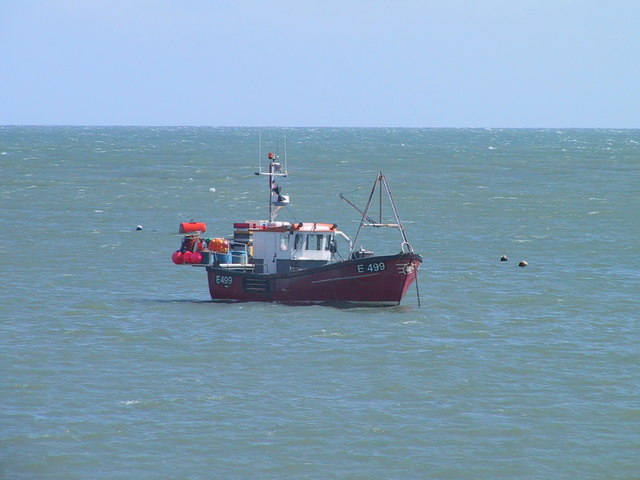 Boat anchored off Swanage