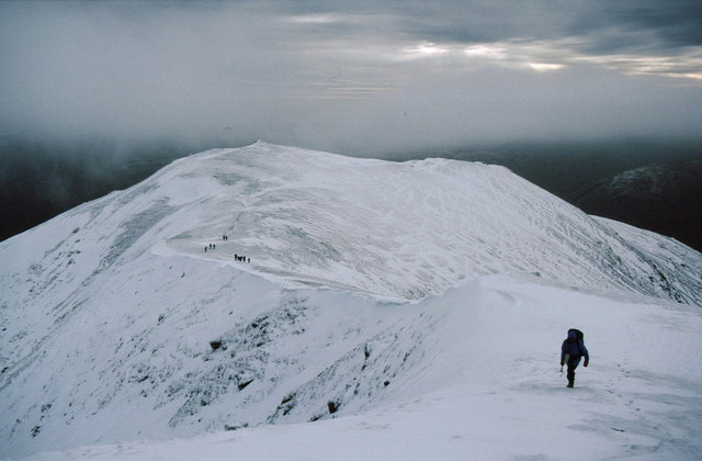 Nearing the top of Stob Binnein