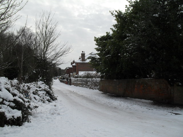 A snowy Lower Grove Road