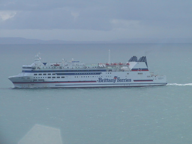 Brittany Ferry heading towards Poole