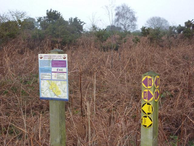 Open access land near Hollesley