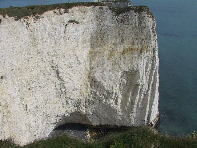 Cliff with a cave, The Foreland