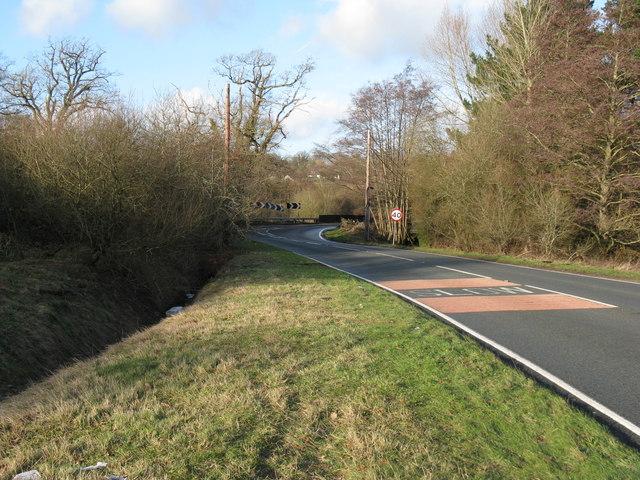 A 283 approaching Wickford Bridge