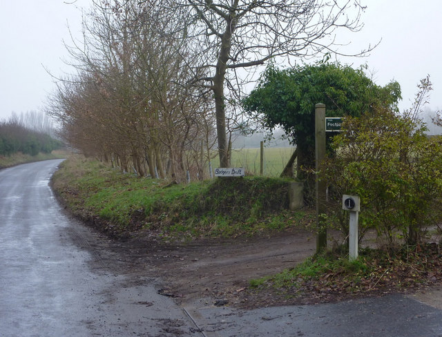 Footpath junction from Rectory Road