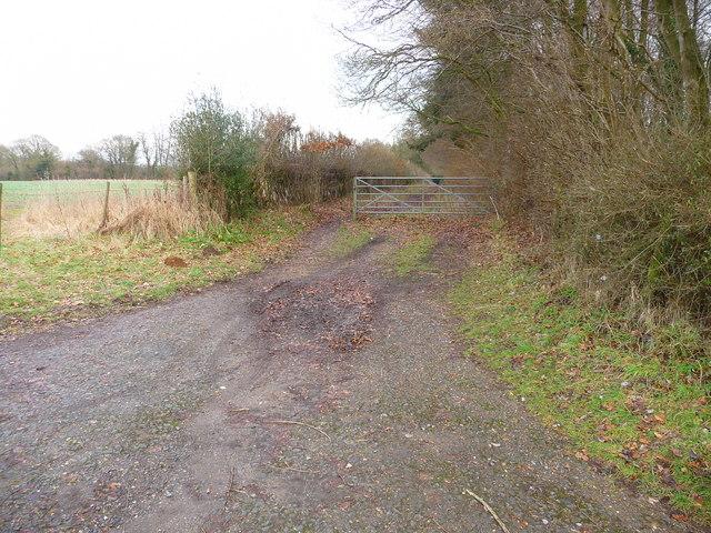 Amport - Start Of Furzedown Lane Footpath