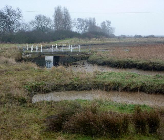 Bridge on lane to Shingle Street