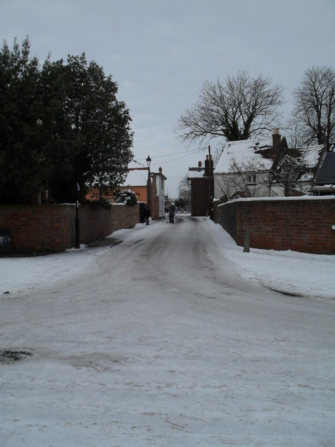 Looking from Grove Road into a treacherous Town Hall Road
